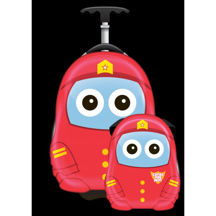 Ghiozdan si valiza Uniform Cutie Fireman set