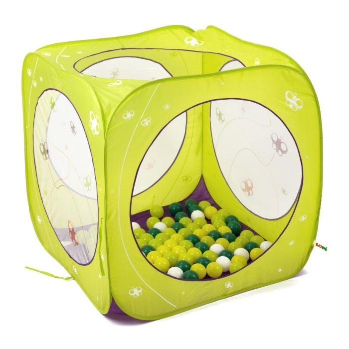 Spatiu De Joaca Pliabil Cub Cu 80 Bile  Fluturi Ludi