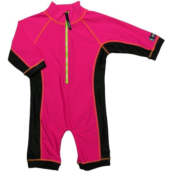 Costum de baie pink black marime 74- 80 protectie UV Swimpy