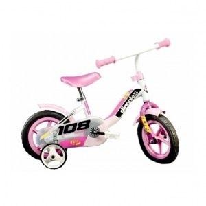 Bicicleta 108 FL cu maner pentru parinti - Dino Bikes-108 Roz imagine