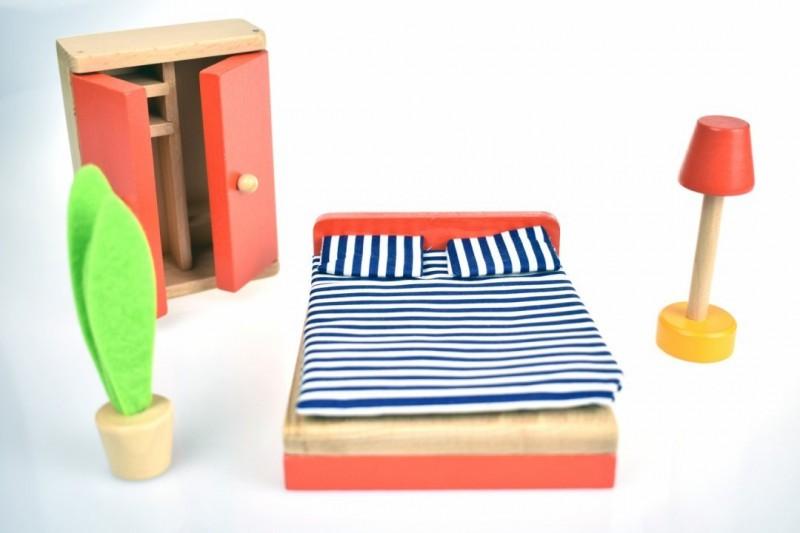 Tooky Toy Mobila dormitor mini imagine