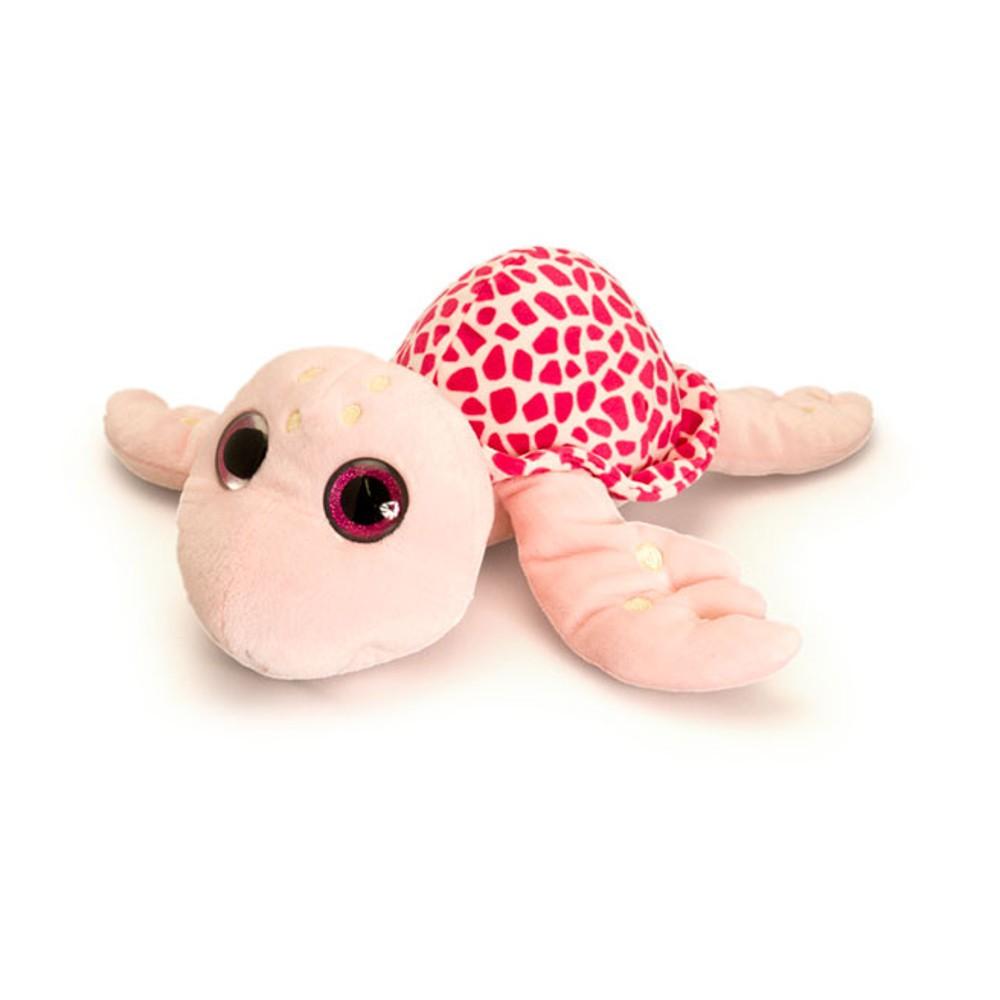 Broscuta Testoasa de plus cu ochi stralucitori Dark Pink 18 cm Keel Toys
