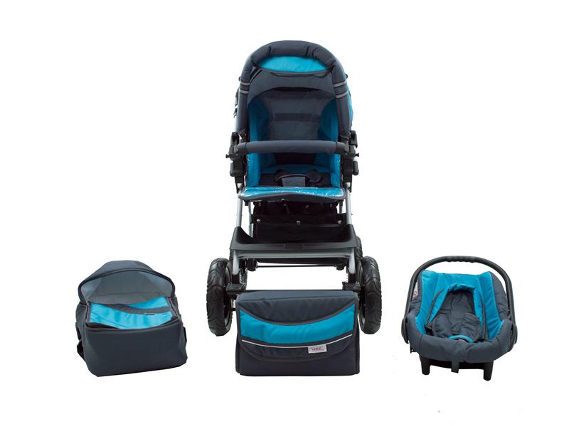 Imagine indisponibila pentru Carucior Copii 3 In 1 Kunert Vip Gri-Albastru