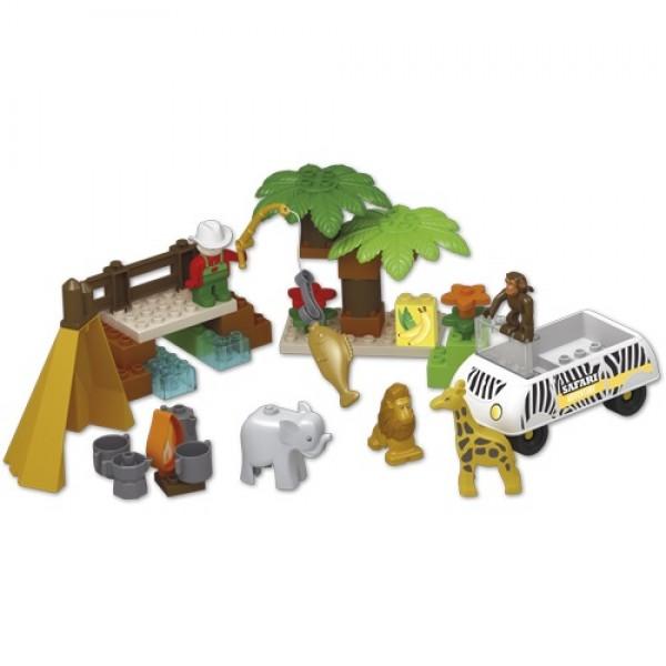Set constructie cuburi Unico Safari mari 55 piese