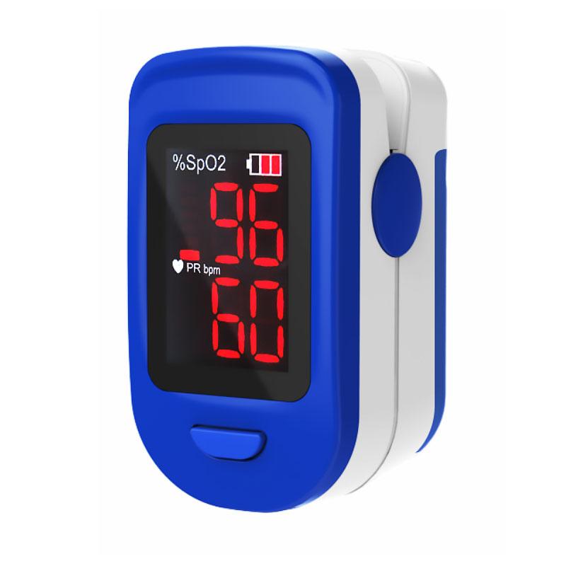 Pulsoximetru RedLine FS10C, alb-albastru, indica nivelul de saturatie a oxigenului, masoara rata... imagine