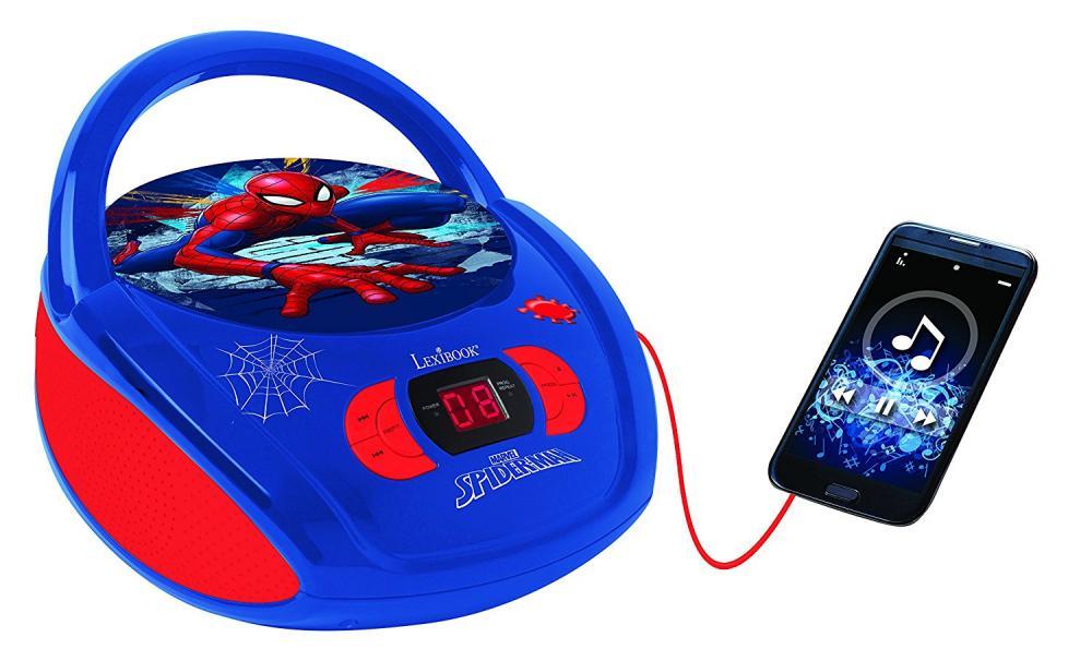 BOOMBOX RADIO/ CD PLAYER SPIDERMAN