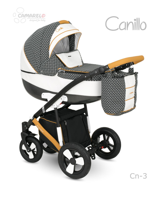 Carucior copii 3 in 1 CANILLO 2017 CAMARELO COLOR CN-3