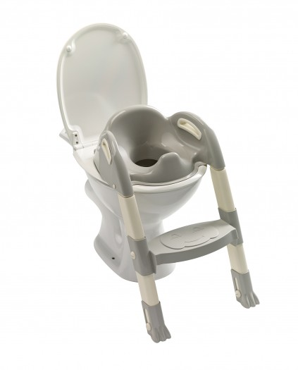 Reductor pentru toaleta cu scarita Kiddyloo-Grey