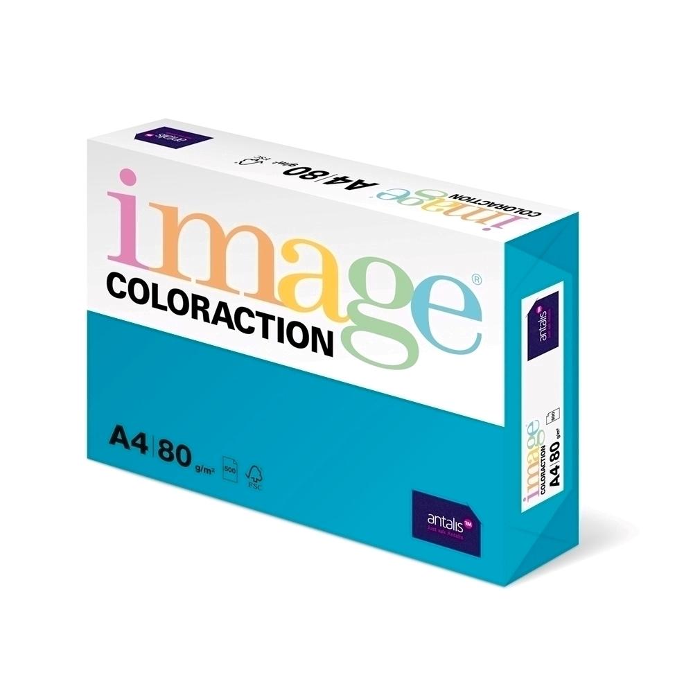 Hartie color Coloraction A4 80g 500 colitop bleu ciel-Lisbon imagine