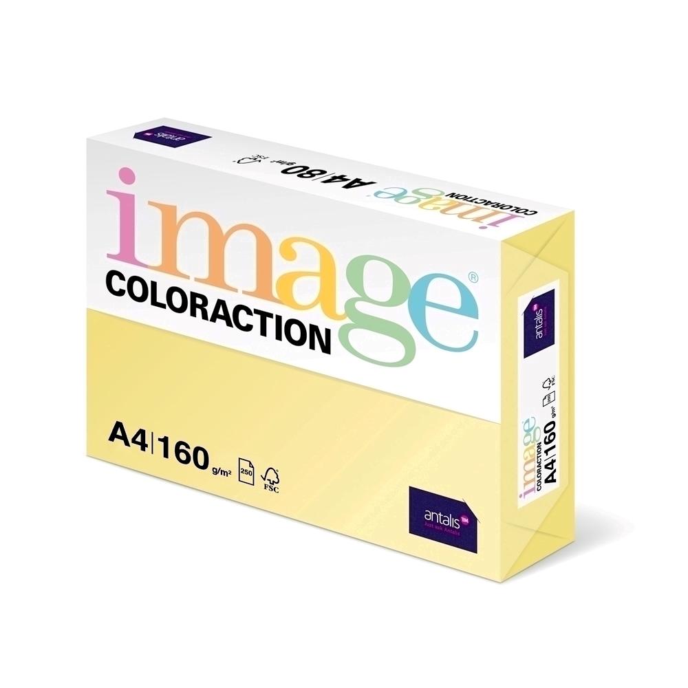 Carton color Coloraction A4 160g 250 coli galben pal-desert imagine