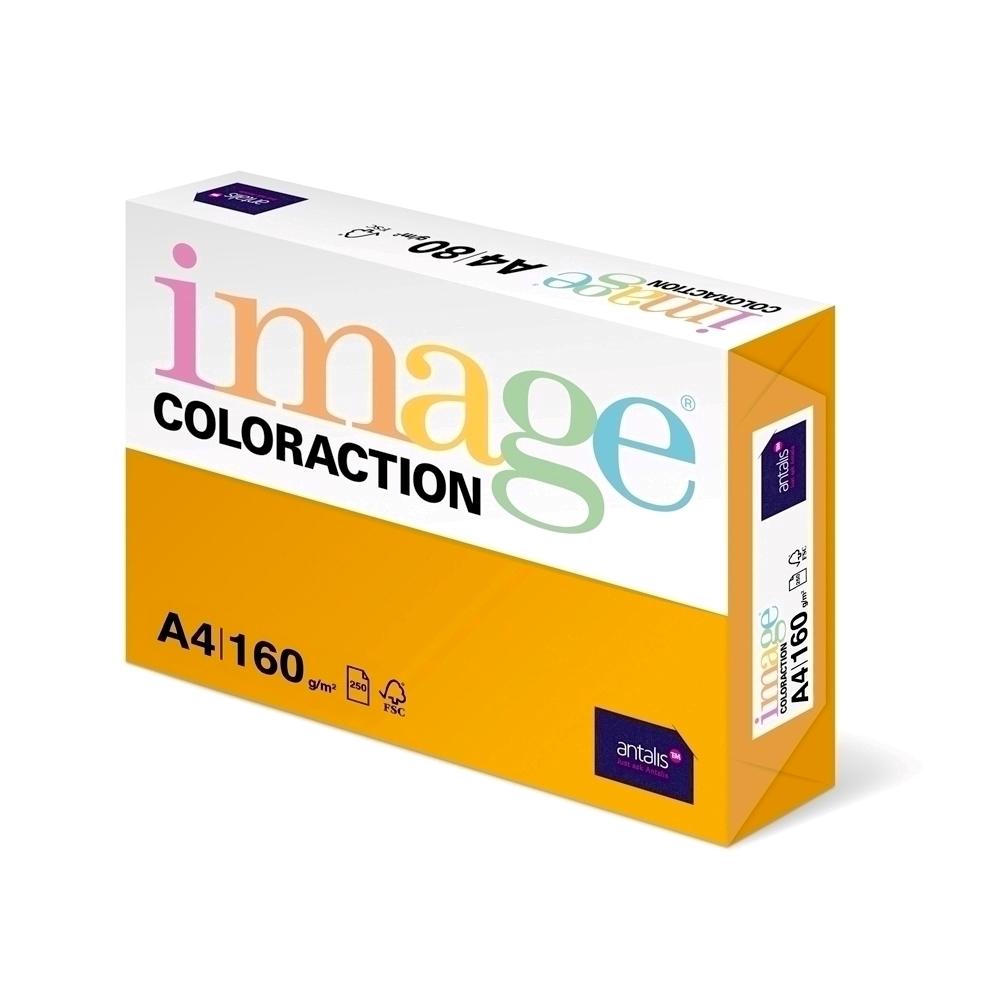Carton color Coloraction A4 160g 250 colitop portocaliu-Vene imagine