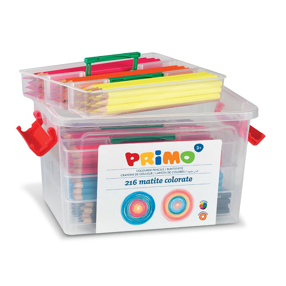 Creioane colorate Morocolor in cutie de plastic 216 bucati imagine