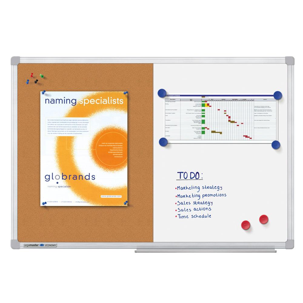 Tabla combiboard Legamaster economy rama aluminiu 90x120cm imagine