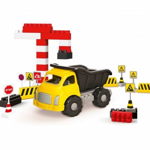 Camion si cuburi de construit - 40 piese