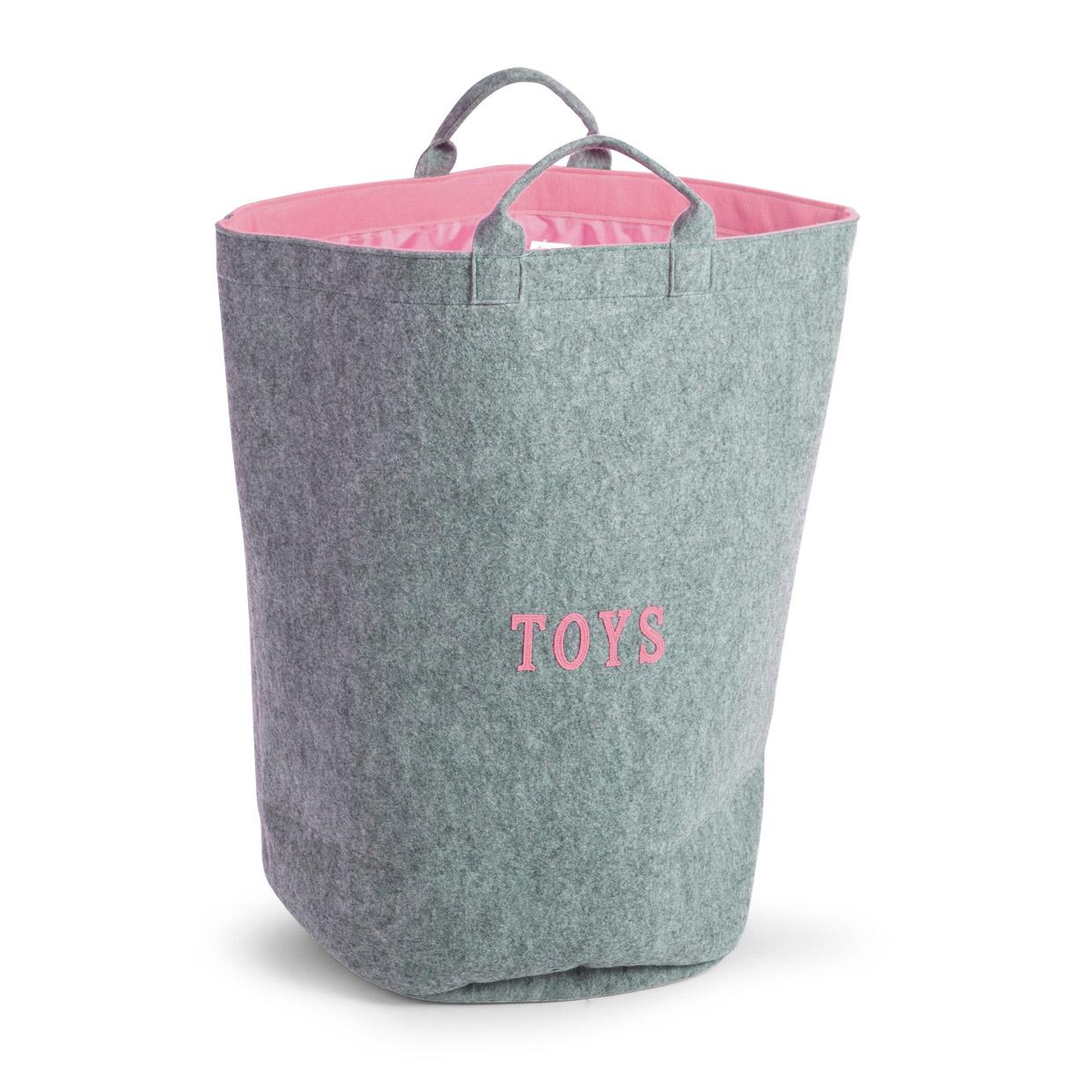 Cos depozitare jucarii gri roz deschis din FELT Felt 40x40x60cm imagine