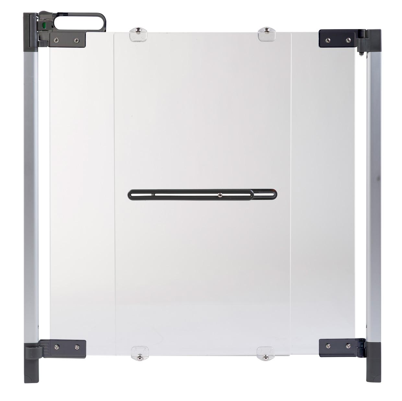 Poarta de siguranta premium pentru scara Plexi Silver (74-100cm) imagine