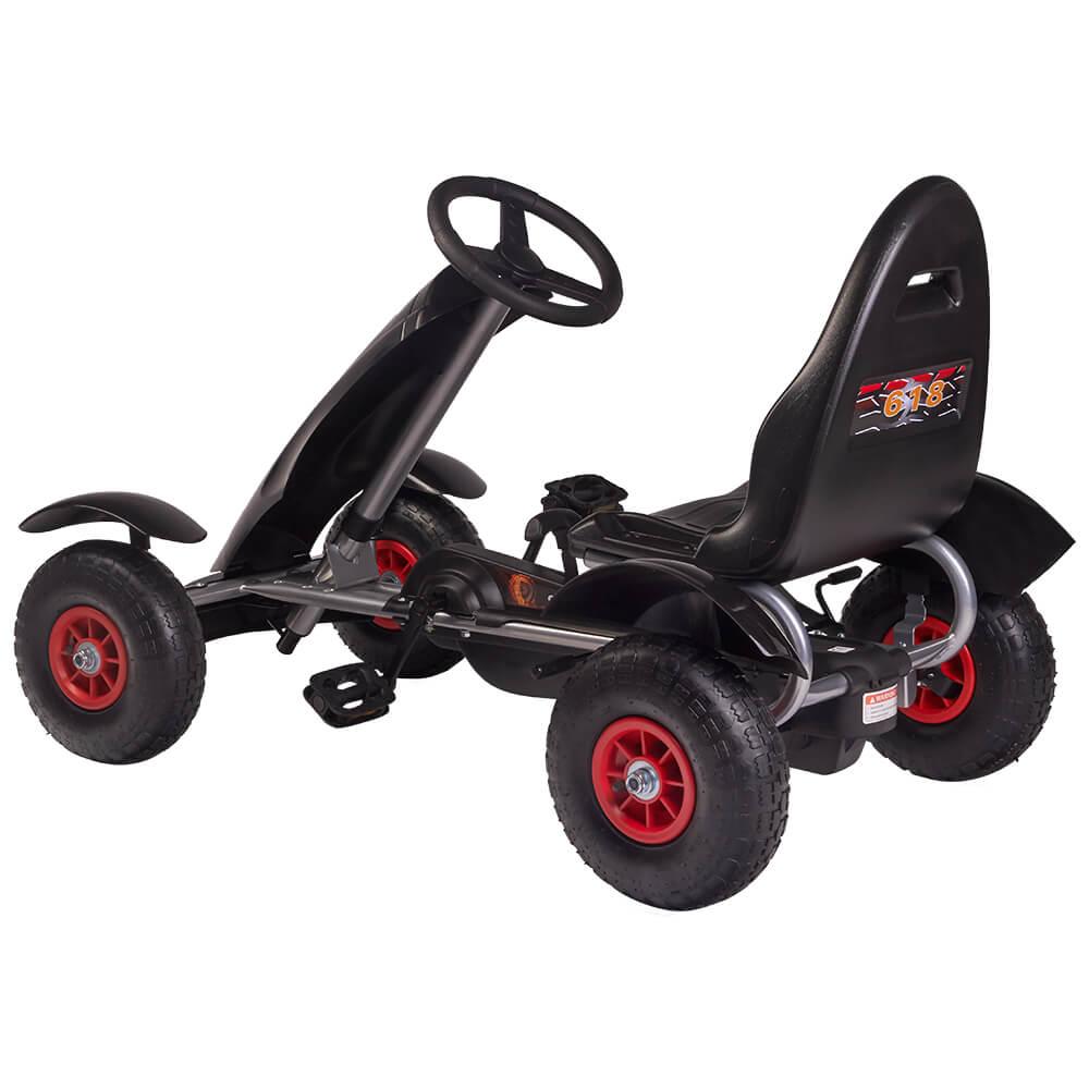 Kart cu pedale F618 Air negru Kidscare imagine