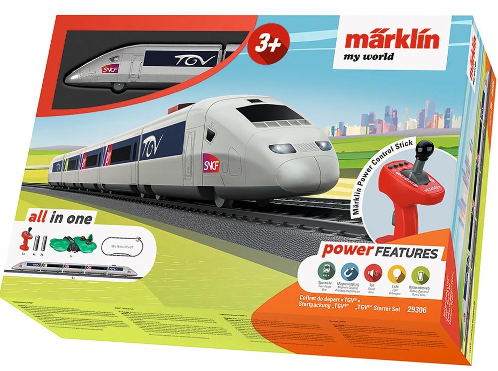 Tren de calatori cu telecomanda si accesorii TGV Starter Set