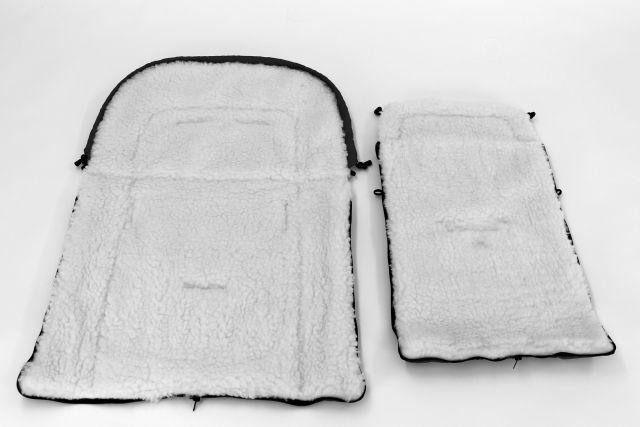 Camicco - Sac de iarna pentru carucior cu interior din lana pentru 0-3 ani gri