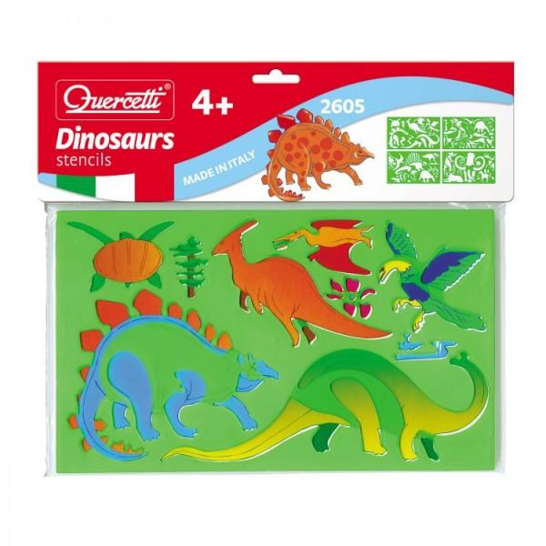 Set creativ pentru copii Sabloane Dinosauri Quercetti