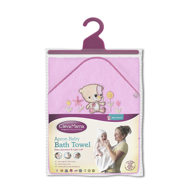 Prosop De Baie Pentru Bebelus Si Mama Pink Clevamama