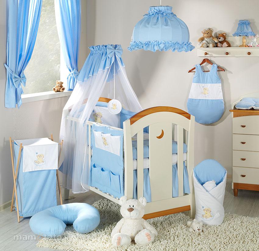 Lenjerie Patut 3 Piese 120x60 Ursulet Bleu + Cearceaf Cadou
