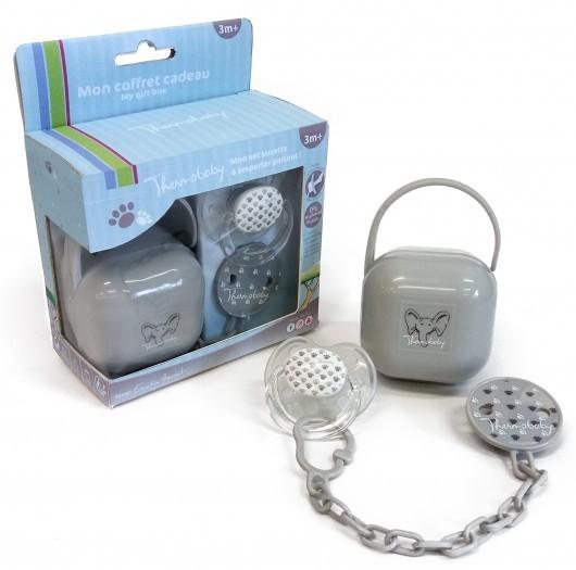 Thermobaby Set suzeta si accesorii, Grey