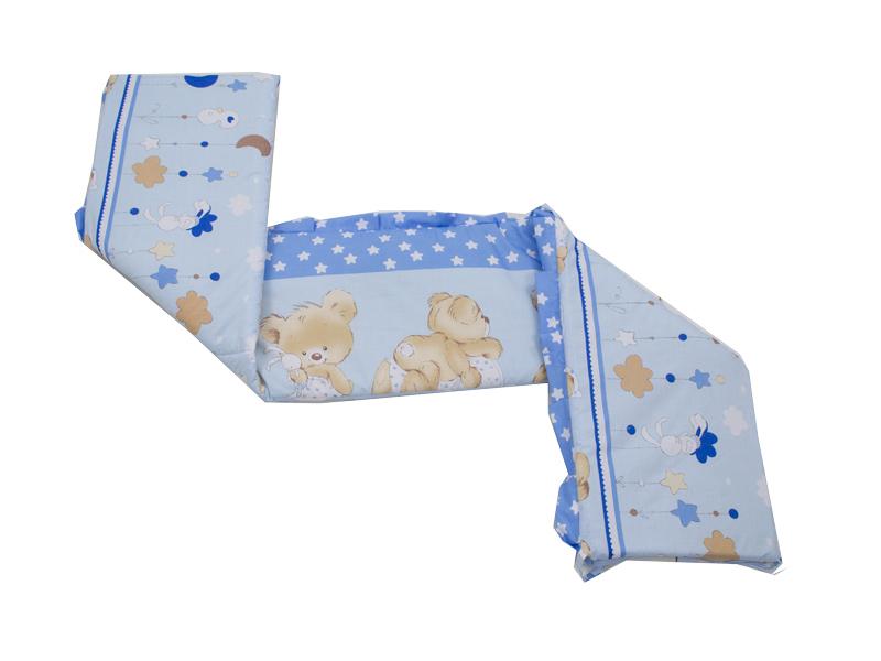 Aparatoare Laterala MyKids Teddy Hug Blue 140x70 imagine