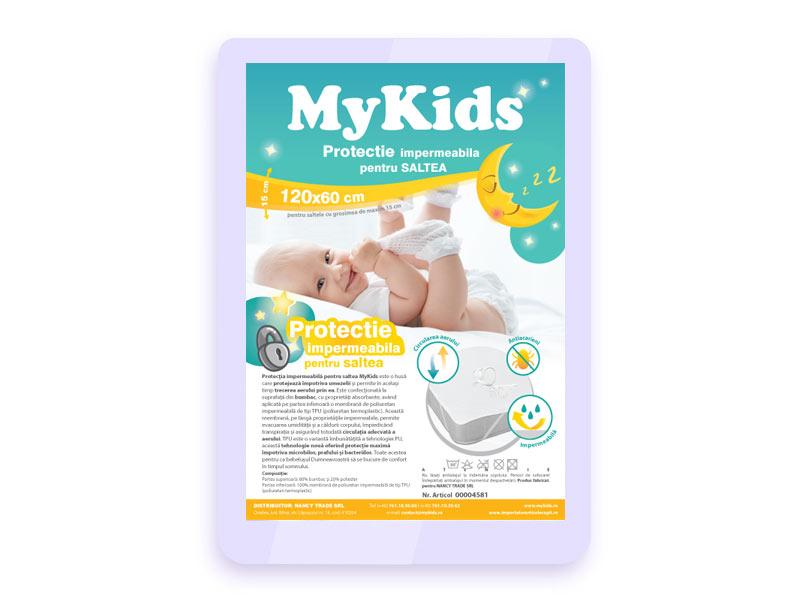 Protectie Impermeabila MyKids Pentru Saltea 120x60 CM