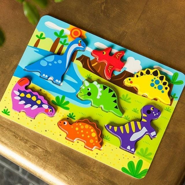 Tooky Toy Puzzle de potrivit Dinozauri imagine