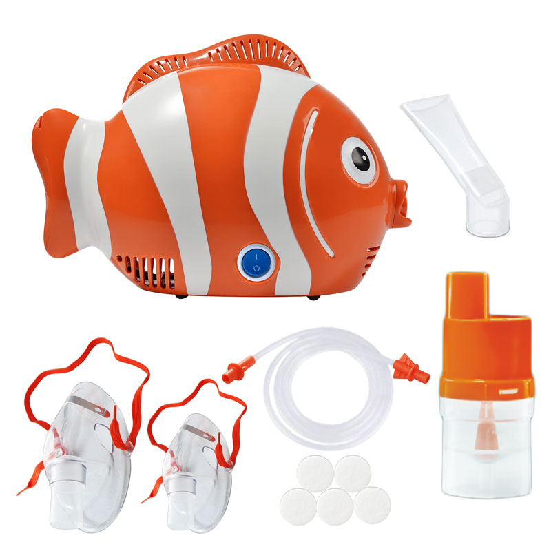 Aparat de aerosoli cu compresor Scian Healthy Fish, MMAD 2.44 µm, forma jucausa apreciata de copii imagine