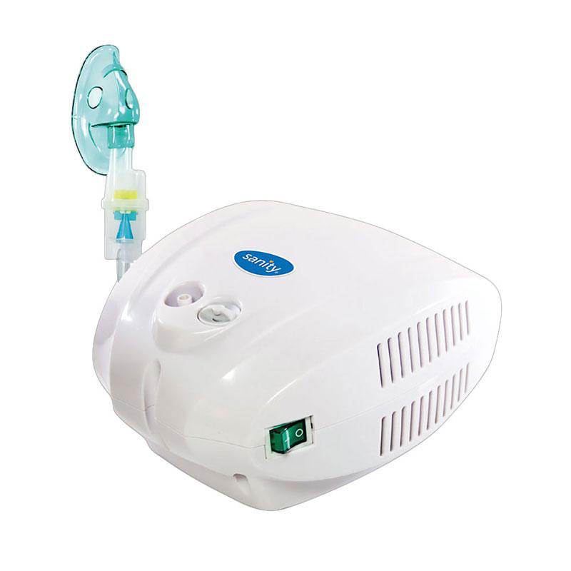 Aparat de aerosoli cu compresor Sanity Allergia Stop Inhaler, MMAD 3 µm, cupa medicamente 10 ml