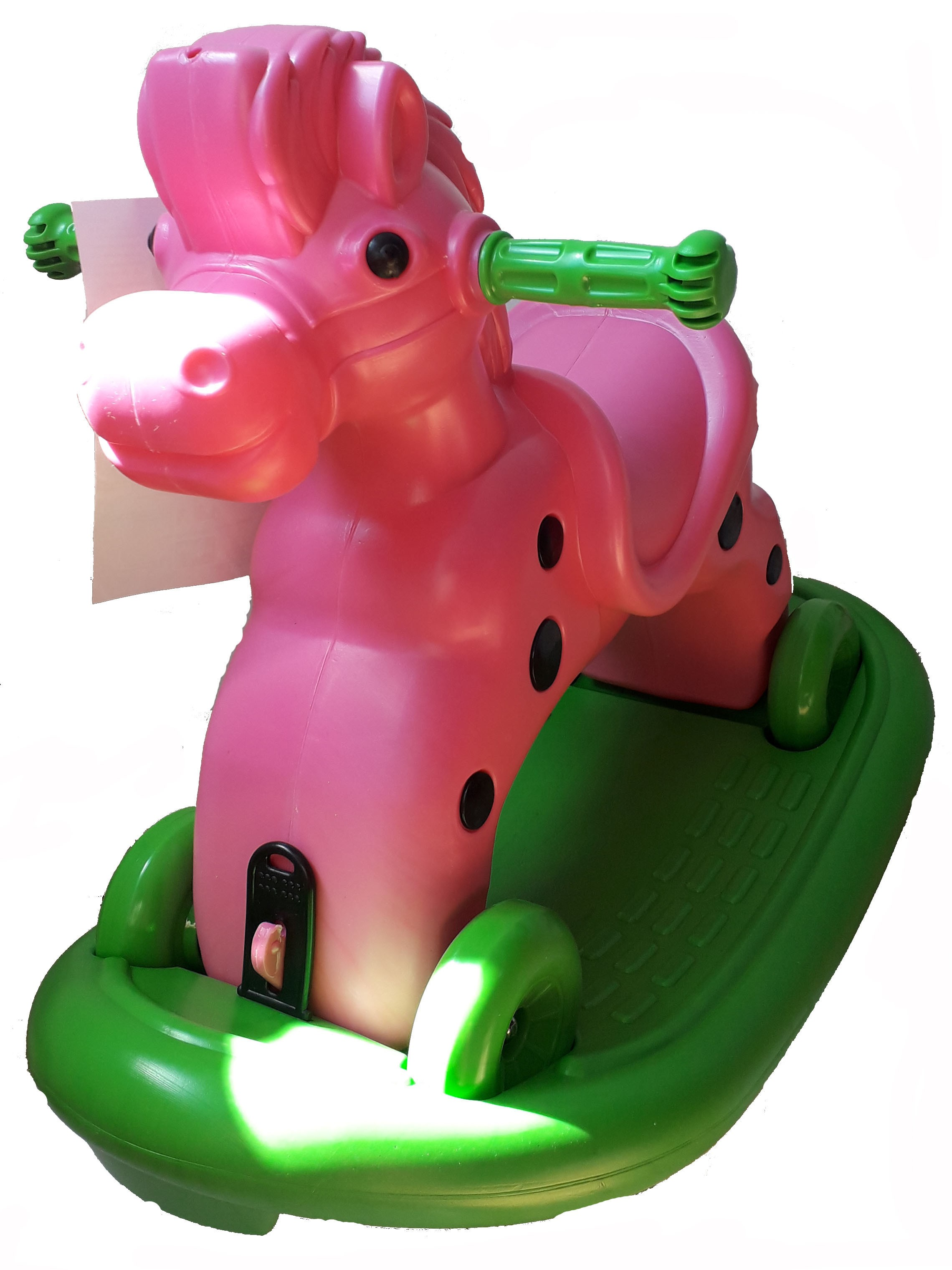 Calut balansoar cu roti Speedy Pink
