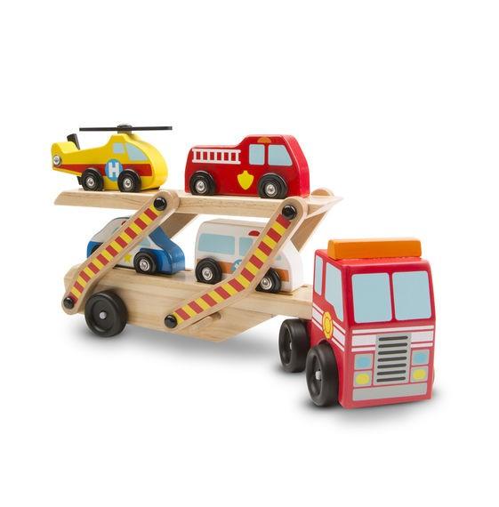 Transportor cu vehicule de urgenta Melissa and Doug