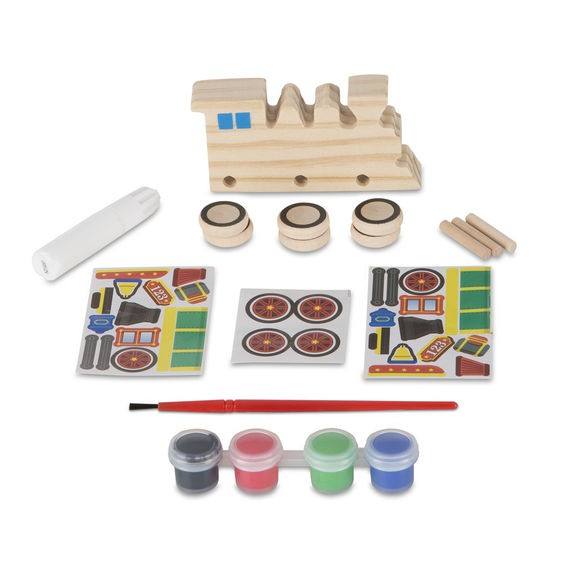 Coloreaza-ti locomotiva din lemn Melissa and Doug imagine