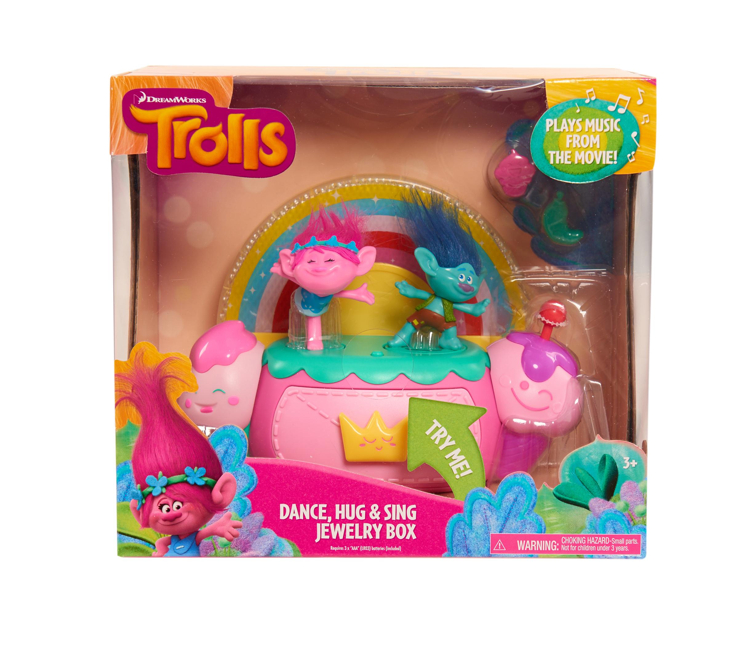 Trolls - Cutie de bijuterii cu efecte luminoase si sunete imagine