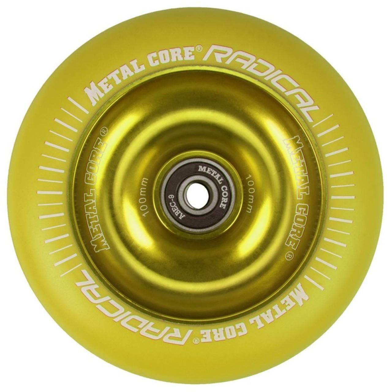Roata trotineta MetalCore RADICAL 110mm - Yellow / Yellow Fluorescent