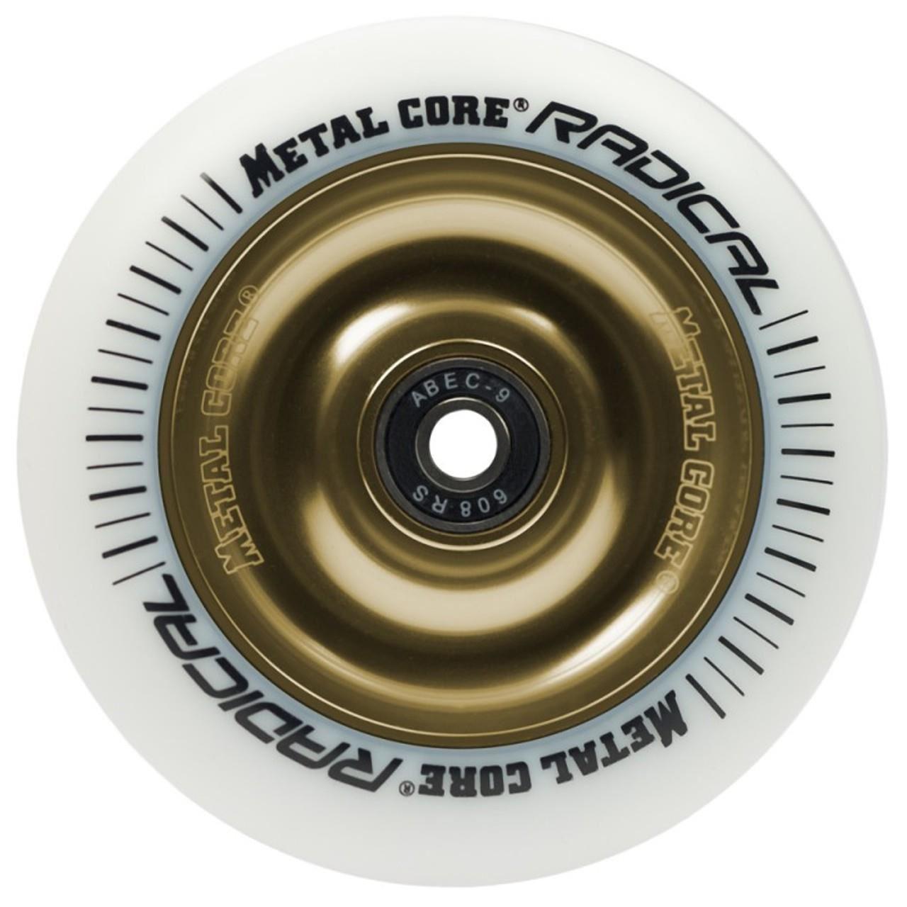 Roata trotineta MetalCore RADICAL 110mm - White / Gold