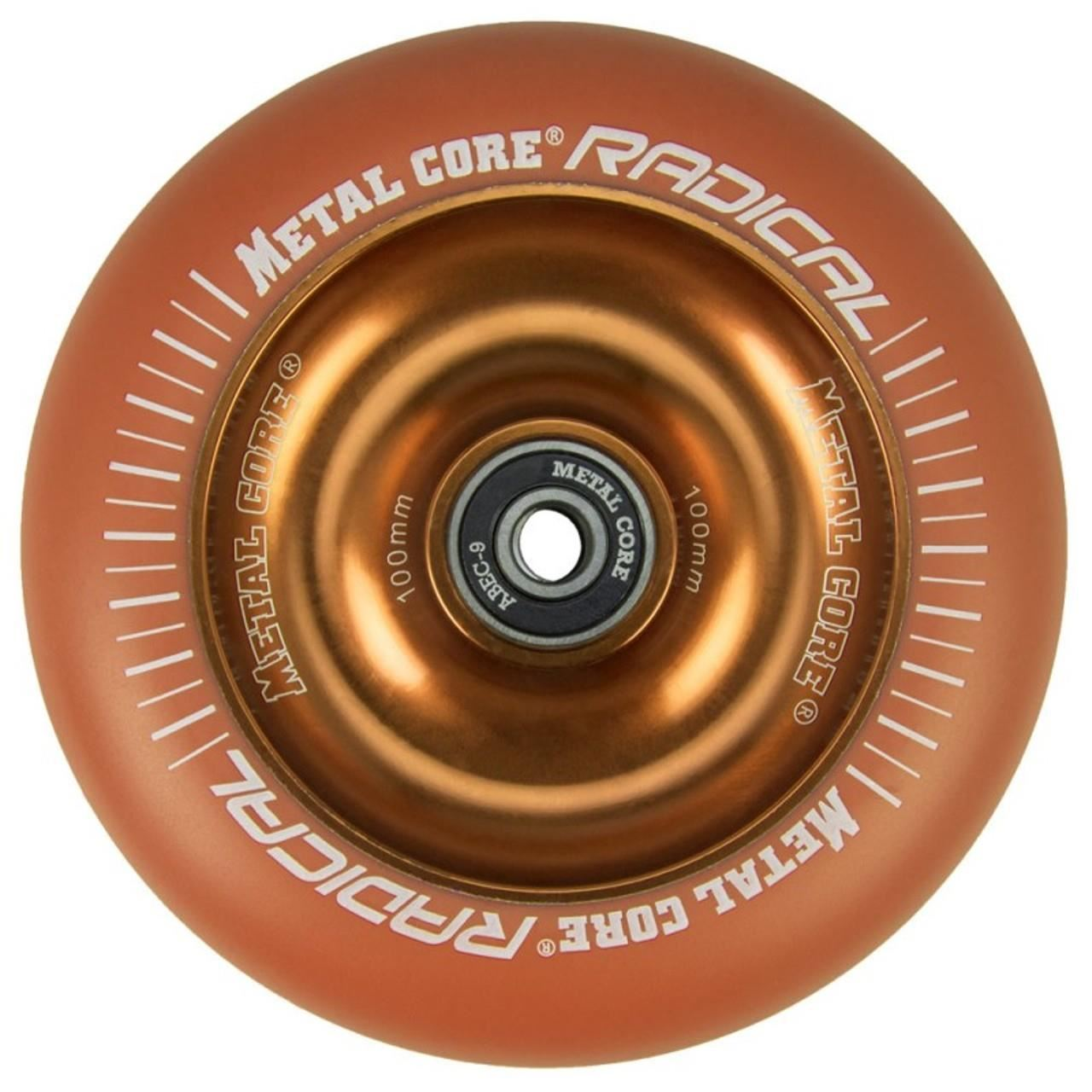 Roata trotineta MetalCore RADICAL 100mm - Orange / Orange Fluorescent