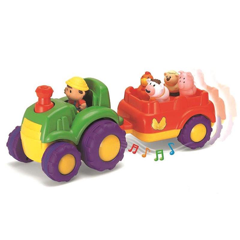 Jucarie muzicala tractor cu remorca 18L+ A Haberkorn