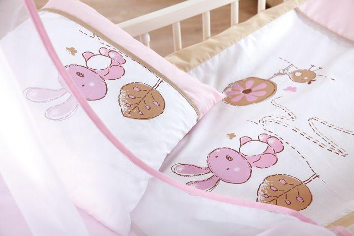 Klups Set Lenjerie 3 Piese Little Bunny Bej-pink