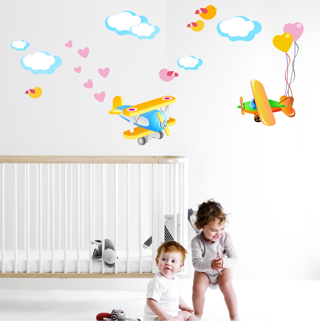 Stickere perete copii Avionase - 82 x 60 cm imagine