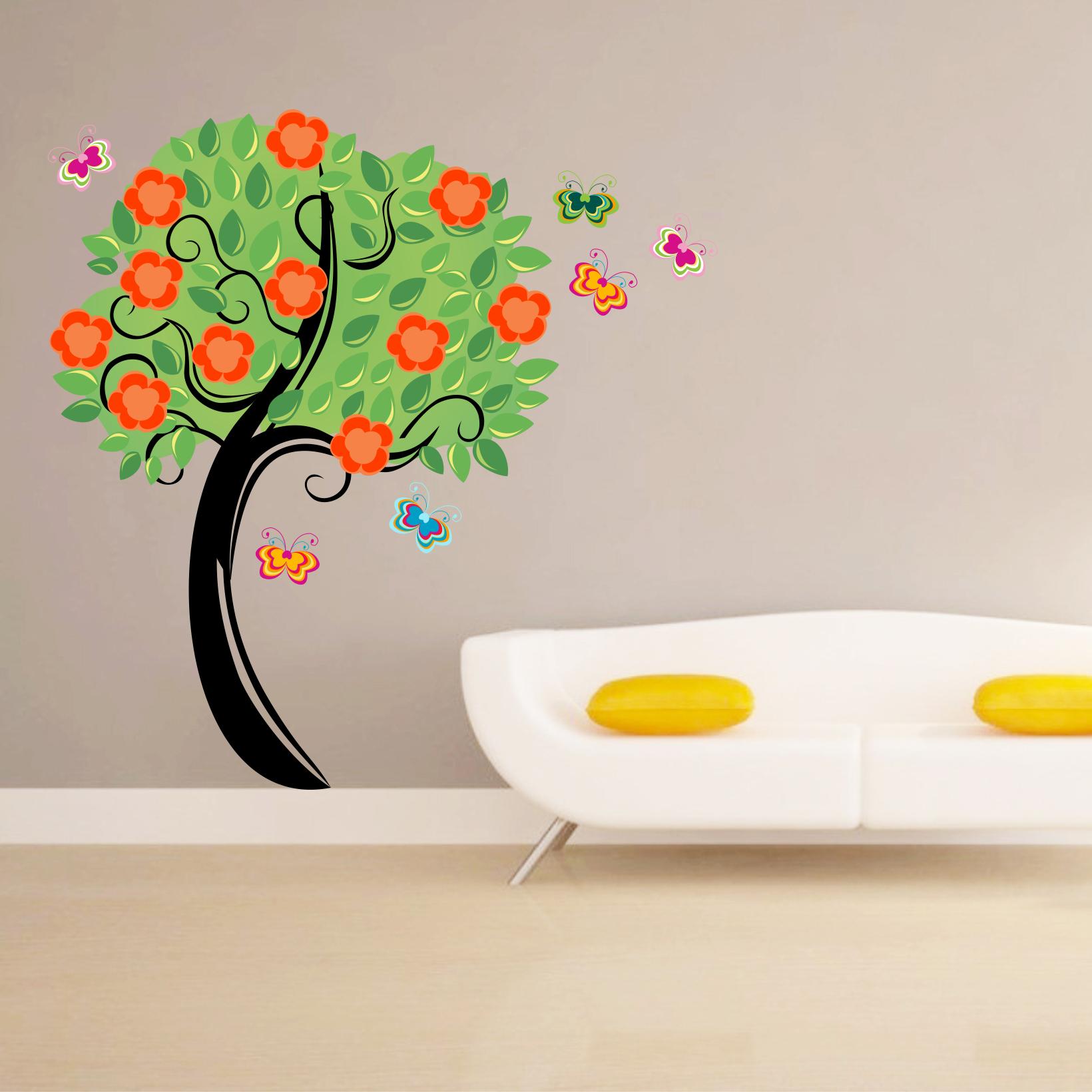 Stickere perete copii Copacul vesel - 131 x 150 cm imagine