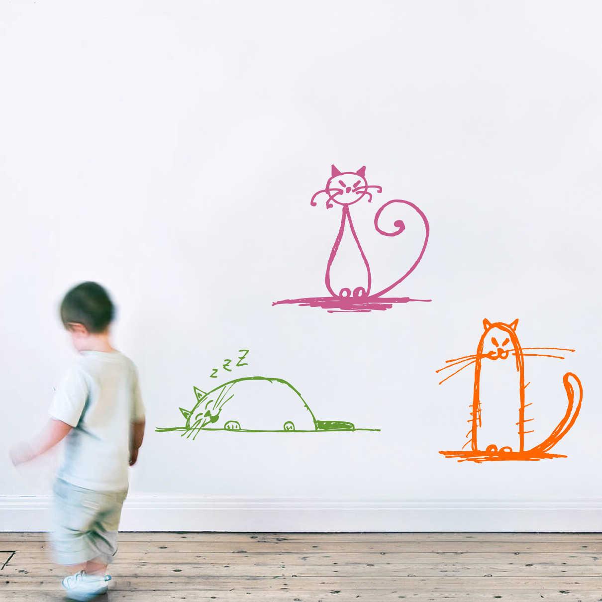 Stickere perete copii Pisicute vesele - 70 x 92 cm imagine