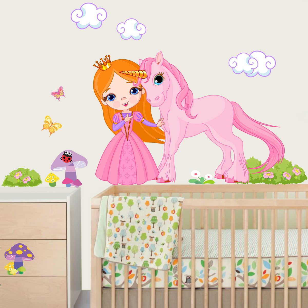 Stickere perete copii Printesa roz - 84 x 80 cm imagine