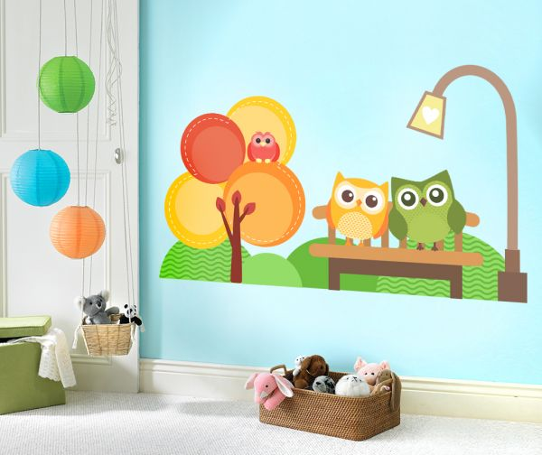Sticker decorativ Impreuna in parc - 96 x 116 cm