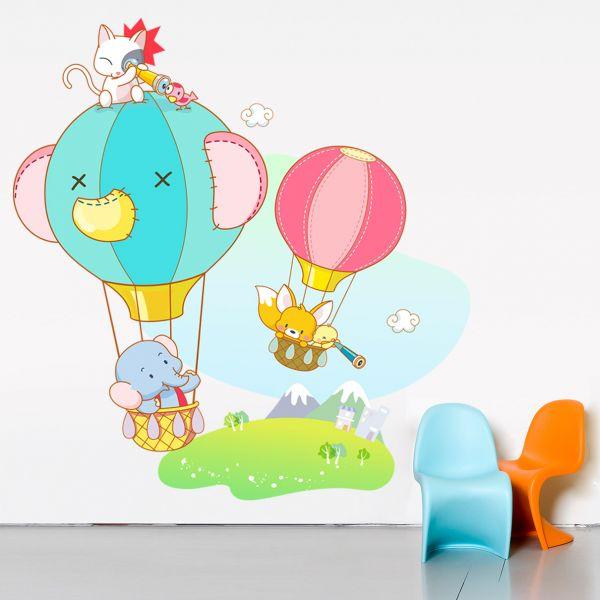 Sticker decorativ Micii Exploratori - 70 x 66 cm imagine