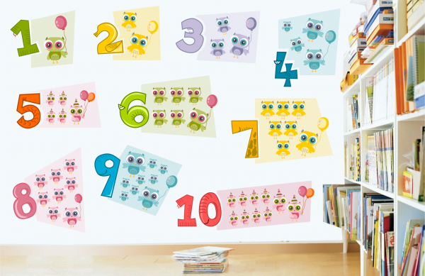Sticker decorativ Numere Vesele - 90 x 59 cm imagine
