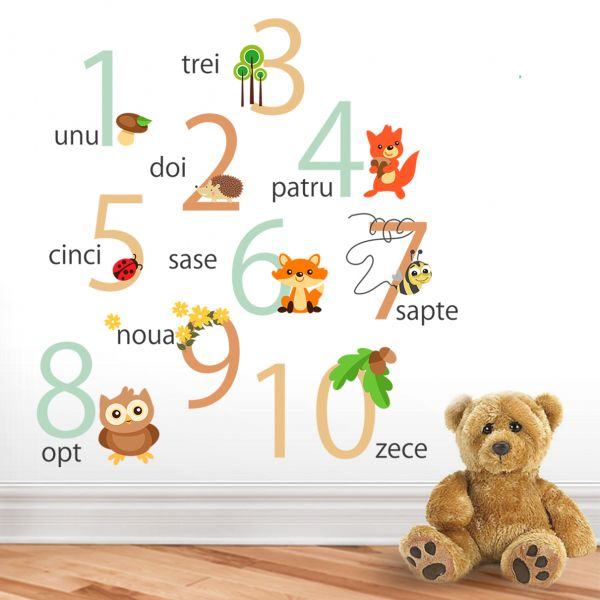 Sticker decorativ Padurea cu Numere - 116 x 33 cm imagine