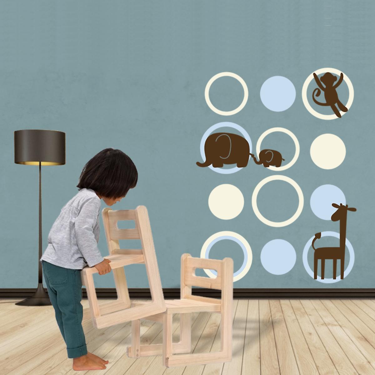 Stickere perete copii Bubbles Action - 88 x 120 cm imagine